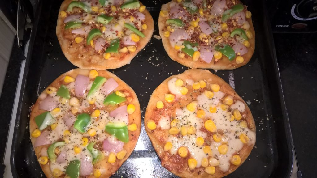 home made pizza blend of wheat flour and refined flour no